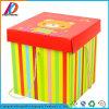 Contenitore di regalo ondulato a forma di del bello quadrato di festa con il coperchio