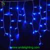 Luzes azuis ao ar livre do sincelo do diodo emissor de luz da decoração do Natal
