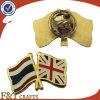 Высокая Quanlity Synthctic эмаль покрытие Gold Металлический бейдж флага/Металлический бейдж
