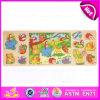 2015 Animais da Floresta Crianças Madeira Puzzle Toy, Animais de quebra-cabeças de madeira, quebra-cabeças de madeira com diferentes personagens animais W14C222