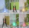 De Stijl van de kwal Al Duidelijke Waterpijp van het Glas met Kleurrijke LEIDENE Lightting