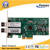 1000Mbps SFP LC Fiber Server van de Haven van Intel 82571eb Chipset Dual van PCI Express X4 LAN Card