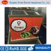 Congelador liso do indicador do gelado do congelador da caixa da porta do vidro de deslizamento de China