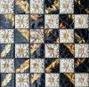 Mosaico misturado do vidro da folha de ouro da flor das telhas cerâmicas