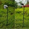 Luz do pátio/lâmpada solares do jardim a altura de Pólo ajustável