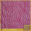 Rosafarbenes Zebra-Muster-synthetisches Leder für Schuhe (S242095TJ)