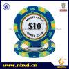 крона Monte 14G 3-Tone - обломок покера глины carlo с стикером уравновешивания золота (SY-E36)