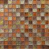 Mischungs-Farbe orange Mosaico Glas-Fliese der Qualitäts-Sh106