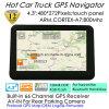 Verkoop 4.3  GPS van de Vrachtwagen van de Auto Mariene Navigatie met GPS Eupomean de Kaart van de Navigator, isdb-t TV, de Zender van de FM, aV-in AchterCamera, het Handbediende GPS Bluetooth Systeem van de Navigatie