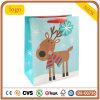 Bolsa de papel del regalo del Patten del reno del bolso azul de la Navidad
