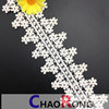 6cm CRT0210 Beautfulの花の機械設計の花嫁の服のための完全な綿のレースのトリムの刺繍