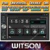 De Auto DVD van het Scherm van de Aanraking van de Vensters van Witson voor de Universele Dubbele Speler van DIN DVD