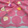 Nylon de 100% Organdy Embroidery avec Cotton Yarn