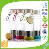 BPA libèrent la bouteille d'eau en verre avec le fruit Infuser Dn-164b de Fliter de thé