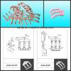 Rings di ceramica Applied in Winding Machinery (Ceramic Tube Eyelet)