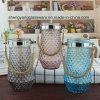 Heet verkoop de Met de hand gemaakte Duidelijke Vaas van het Glas van Ritselen voor de Decoratie van de Zaal
