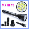 크리 말 Xml-T6 11000lm 9 LED Police Security LED Flashlight Torch