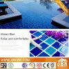 Di colore blu del ghiaccio mosaico Crack della porcellana e verde per la piscina (C648029)