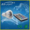 RVB 3W DEL Spot Light Aluminum 24 Keys Remote Controller