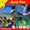 Estrazione mineraria della pepita della vaschetta dell'oro della plastica verde 14  che draga indagando cottura del fiume