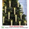 원격 제어 무선이 크리스마스 나무 훈장 LED 초에 의하여 점화한다