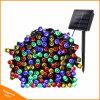 Les lumières de Noël solaire 22m 200 Multi-Color LED 8 Modes de feux de chaîne de fée solaire pour l'extérieur Party de Noël de mariage