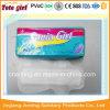 女らしい衛生学の使い捨て可能なまっすぐに生理用ナプキンのパッド
