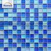 高品質の混合された青いガラスモザイクプールの床タイル