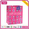 A roupa cor-de-rosa do aniversário calç os sacos de papel do presente dos ofícios da lembrança
