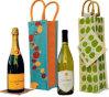 Sacchi su ordinazione del vino del pacchetto del cotone di stampa