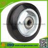 Elastisches Rubber auf Steel Rim Wheel für Casters