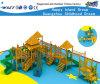 Campo de jogos ao ar livre Hf-17201 do equipamento de madeira da aptidão de Playsets