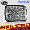54W 5X7 Inch Hi/Low Beam Auto Car LED Headlamp (PD7SL-54W)