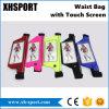タッチ画面が付いているベルトのウエスト袋に上るか、または実行する防水反射スポーツ