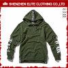 Venta al por mayor de lujo de Hoodies del verde del ejército para los hombres y las mujeres (ELTHI-48)