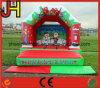 Château sautant de grand de Noël de décorations de Chambre de Chambre de videur cavalier plein d'entrain plein d'entrain drôle gonflable extérieur géant de château