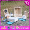 Os miúdos novos do projeto fingem a mobília diminuta de madeira W06b054 do Dollhouse dos brinquedos do jogo