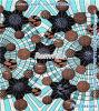 Van Katoenen van het Af:drukken van de Was van Afrika het Volledige Katoen 100% Coton Pagne Textil van Bazin van de Batik Ghana van de Stof