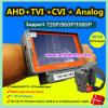 Equipamento de teste CCTV da câmera de segurança do pulso para a câmera analógica Ahd + Tvi + Cvi + com monitor LCD de 5 polegadas