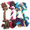 Il cotone del giocattolo dell'animale domestico del cane ha intrecciato il nodo di masticazione della tirata della corda