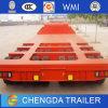 Lowbed Chico Baja Baja camion de transporte de máquinas semi remolque cuello de cisne