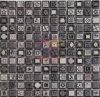 灰色の自然なパターンによって艶をかけられる陶磁器のモザイク・タイル(CST081)
