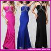 De bandage robes de femmes de sirène en cristal sexy de la Turquie de 2015 robe de soirée de vente chaude V de célébrité de cou de la robe maxi (C-267)