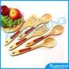 5PCS lepel voor het Koken van Hulpmiddel van de Keuken van de Werktuigen van het Theelepeltje van het Bamboe het Houten