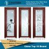 Porta de alumínio do banheiro dos vidros decorativos da camada dobro do fabricante de Foshan