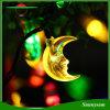 50LED en forme de lune Chaîne solaire Light Feuilles de Noël de fée pour l'extérieur, le jardin, la maison, le mariage, la fête de Noël et les vacances