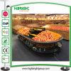 Carrinho de indicador do vegetal e da fruta do supermercado da loja luxuosa