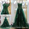 Grünes Tulle-Spitze-Kleid-reale Abschlussball-Partei-Abend-Kleider Z5069