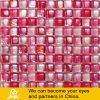 Мозаика розового смешивания стеклянная в форме пузыря