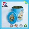 Kundenspezifische runde Blechdose, Zinn-Kasten, Nahrungsmittelzinn, Metallzinn